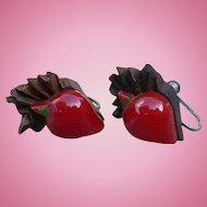 Bakelite Wood Radish Earrings