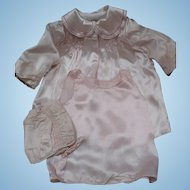 Pink Satin Baby Set 3 Piece