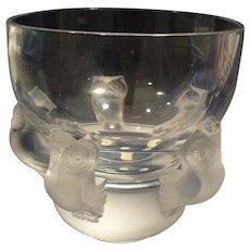 Lalique Owl Bowl