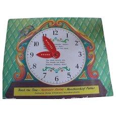Clock Nursery Rhyme Children Handkerchiefs