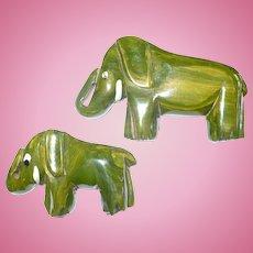 Bakelite Elephant Pins