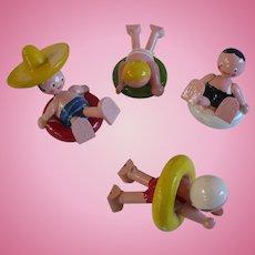 Wooden Swimming Figures