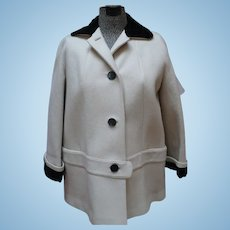 1950's White Wool Jacket