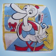 Tom Lamb Duck & & Frog Handkerchief
