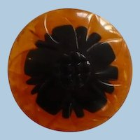 Bakelite Two Color Button