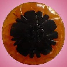 Bakelite Two Color Button