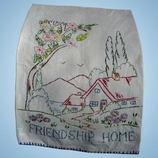 Friendship Embroidered Towel