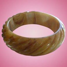 Marbled Gold Bakelite Bracelet