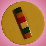 Huge Multicolor Bakelite Button
