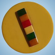 Huge Multicolor Bakelite Button