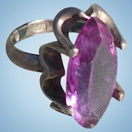Sterling Purple Stone Ring