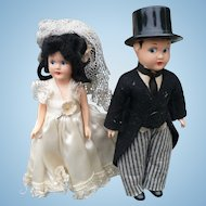 Celluloid Bride & Groom Dolls