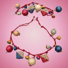 Czech Wood Necklace & Bracelet