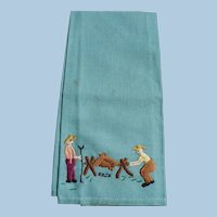 Embroidered Camp Roasting Towel