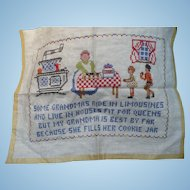 Embroidered Grandma Sampler