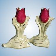 Pair Tulip Vases