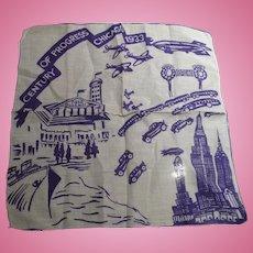 1933 Century Progress Handkerchief