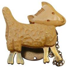 Bakelite Snap-on Lamb Pin