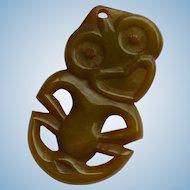 Hei Tiki  Carved Bakelite  Luck Charm