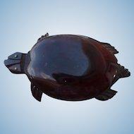 Large Bakelite Turtle Pin