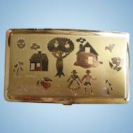 Village Scene Cigarette Case