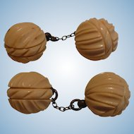 Bakelite Ball Cufflinks or Buttons