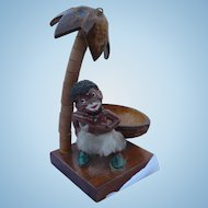 Black Americana Figure Trinket Tray