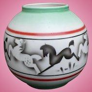 Czech Pottery Horse Vase