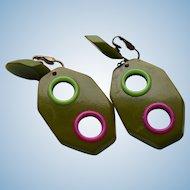 Geometric Bakelite Dangle Earrings