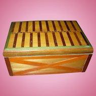 Wood Inlay Box Folk Art