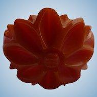 Bakelite Floral Carved Ring