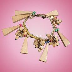 Wood Bead Bracelet & Earring Set