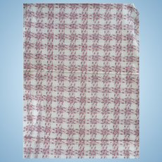 1940's Cotton Plaid Fabric