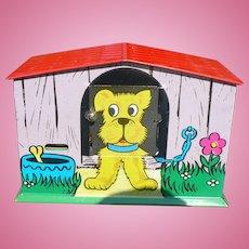 Dog House Tin Bank
