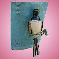 Fenichel Enamel Bird Pin