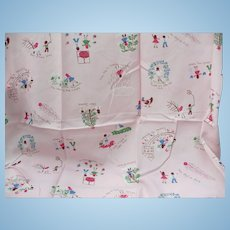 Pink Seasonal Children's Fabric