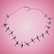 Sterling Bird Fetish Necklace