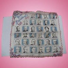 1950's Presidents Handkerchief