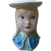 Chalkware Girl Head Vase
