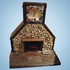 Folk Art Fireplace Clock