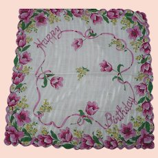 Happy Birthday Handkerchief