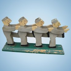 Wooden Carved Men Folk Art