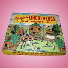 Lincoln Logs 1942 Set