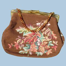 Autumn Needlepoint Purse