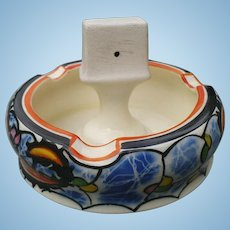 Czech Pottery Ashtray Match Striker