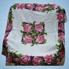 Rose Print Tablecloth