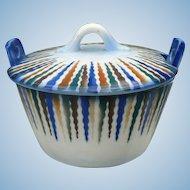 Czech Pottery Butter Tub