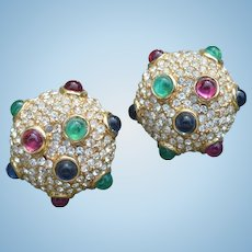 Ciner Rhinestone Earrings