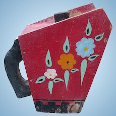 Wooden Pitcher Folk Art