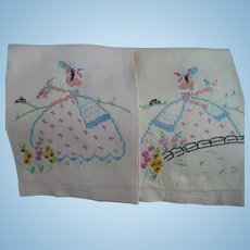 Embroidered Lady Towels